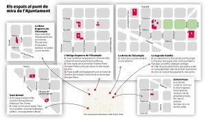 suspensión licencias barcelona plano